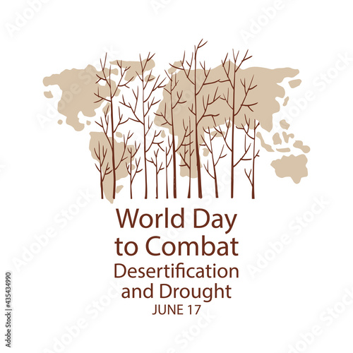 Fotografija World Day to Combat Desertification and Drought. Poster concept.