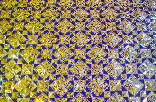 Details of mirror wall in Imam zadeh Jafar Shrine, Yazd, Iran фототапет