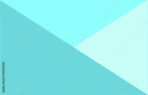 Fototapeta Abstract Geometric Shapes Flat Background Trendy Bright Tropical Blue Colors - M