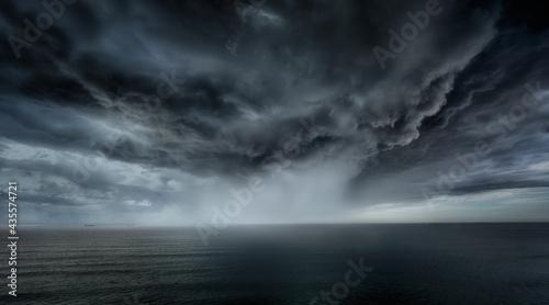 Fotografie, Obraz stormy clouds and rain with dramatic sky