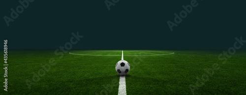 Foto textured soccer game field - center, midfield
