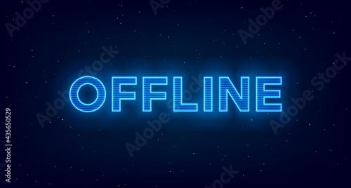 Obraz na plátne Hologram offline twitch banner