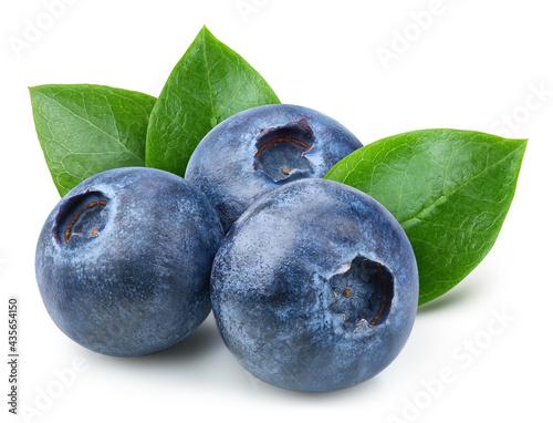 Organic blueberry isolated on white background Fotobehang