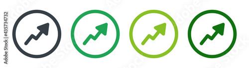 Fotografia Increasing growth arrow graphic icon vector illustration