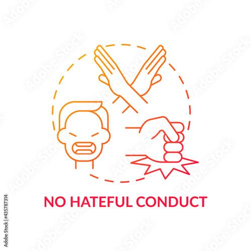 Fotografie, Obraz No hateful conduct concept icon