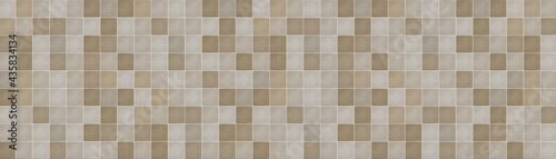 Leinwand Poster Classic ceramic brown mosaic wall tiles background
