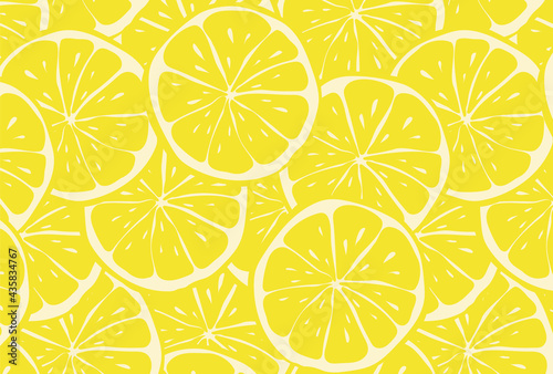 Canvas Print seamless pattern with lemons for banners, cards, flyers, social media wallpapers, etc