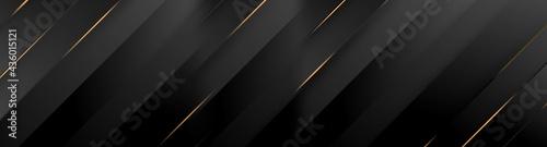 Fotografering Black luxury background with golden diagonal stripes