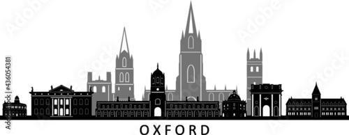 Photo OXFORD England SKYLINE City Silhouette