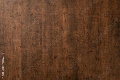 スクラッチのある、ビンテージな木のボードの背景テクスチャー Fototapet