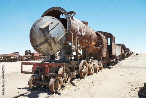 Fotografie, Obraz Abandoned train on railway.