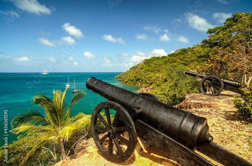 Canvastavla fort, old providence, colombia
