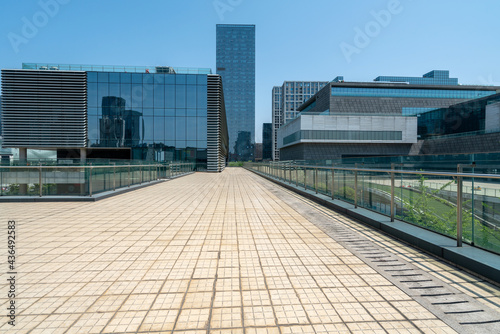 Tela Financial center square and office building in Ningbo, China