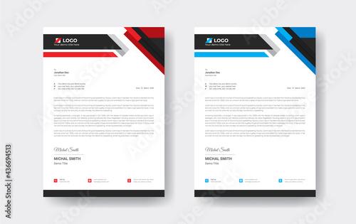 Obraz na plátne Modern Professional corporate business style letterhead