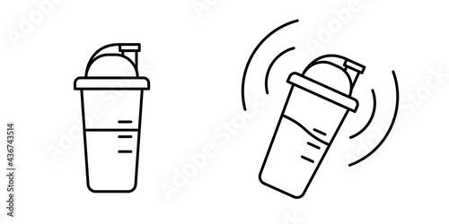 Carta da parati Protein cocktail shaker isolated on white background