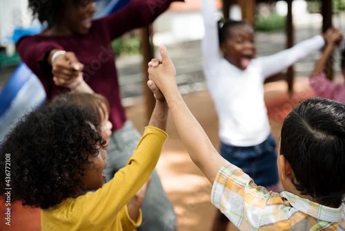 Photo Happy kids at elementary school