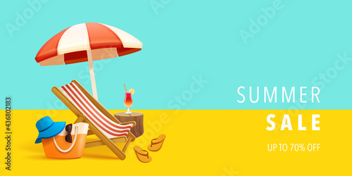 Photographie Summer sale beach holiday vacation