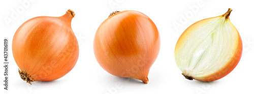 Fotografia Onion bulbs isolated
