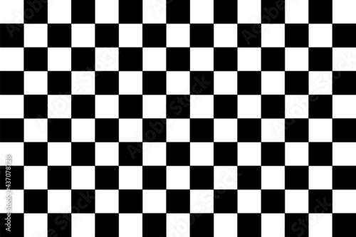 black and white chess board Fototapet