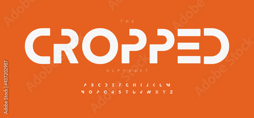 Fotografia Geometric alphabet letter font