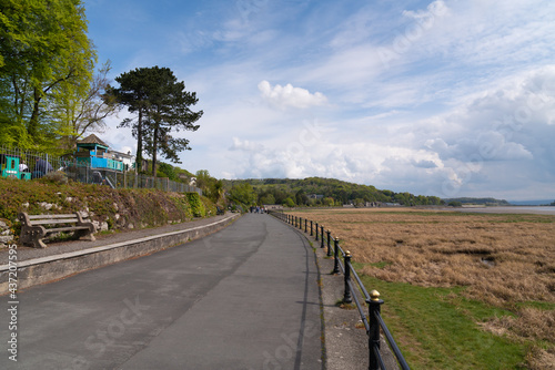 Wallpaper Mural Grange Over Sands Cumbria England UK coast town promenade near the Lake District