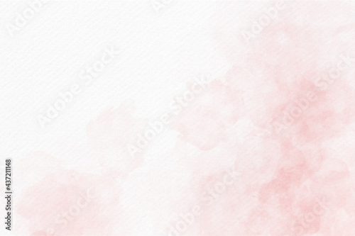 Soft pink watercolor abstract background