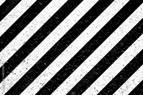 Fotografie, Obraz Bandes obliques blanches sur asphalte