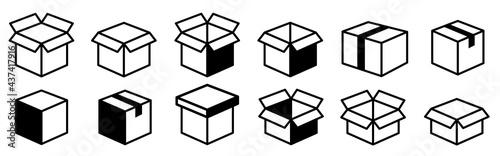 Stampa su Tela Box line icons