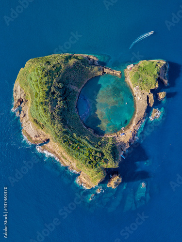 Foto Azores aerial panoramic view