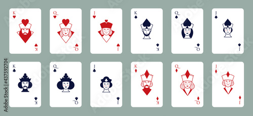 Fotografie, Obraz King, Queen and Jack of the poker deck