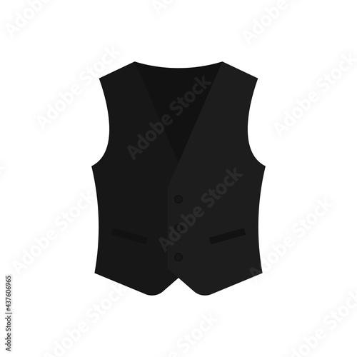 Fotografija Black waistcoat icon. Vector illustration.