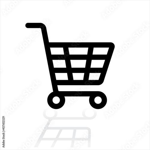 Obraz na płótnie Shopping cart logo icon.