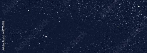 Night sky with stars pattern. Surreal universe background. Abstract cosmos imagination. Surreal starry night sky. Universe stars background. Astronomical luminous objects. Astrology abstract vector
