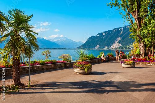 Photo Montreux town on Lake Geneva