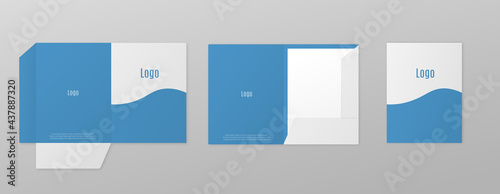 Foto Templates set of paper or pocket folder realistic vector illustration isolated