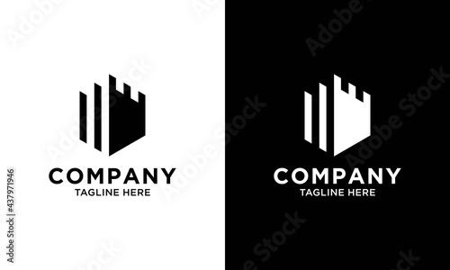 Cuadros en Lienzo Authentic Castle tower silhouette logo design icon inspiration