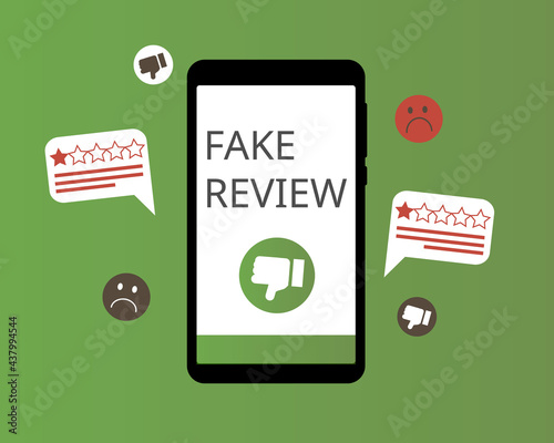 Obraz na plátně get fake review from customer or employee to have a bad review with is not true