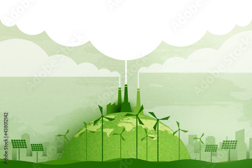 Canvas Print Green industry and alternative renewable energy