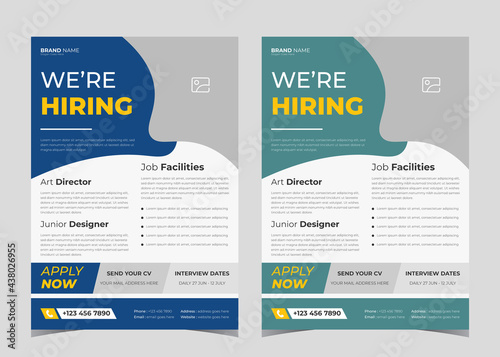 Carta da parati We are hiring flyer design