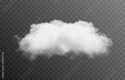 Vector cloud or smoke on an isolated transparent background. Cloud, smoke, fog, png.
