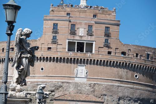 Obraz na plátne Statue in city Rome,Vatican. High quality photo
