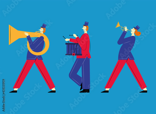Fototapeta three marching band french