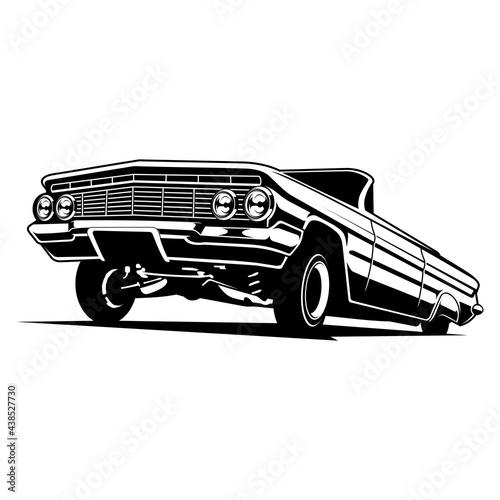 Fotografie, Obraz lowrider vector illustration