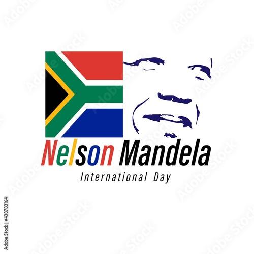 Canvas Print Vector illustration for International Nelson Mandela day