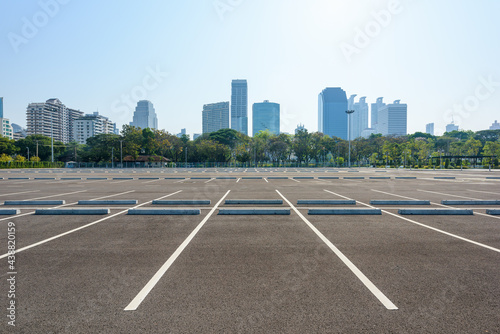 Parking lot in public areas