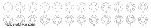 Wheel round diagram part big set Fototapete