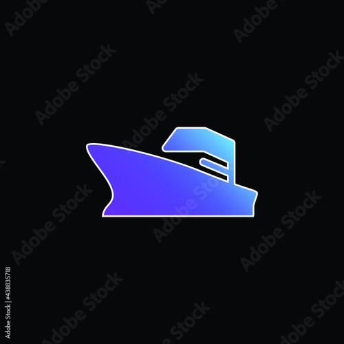 Valokuvatapetti Battleship blue gradient vector icon