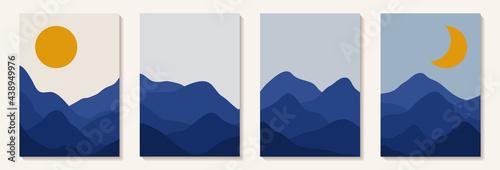 Abstract art mountain Fototapeta
