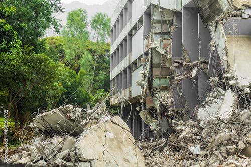 Fotografering Collapsed building / failure structure