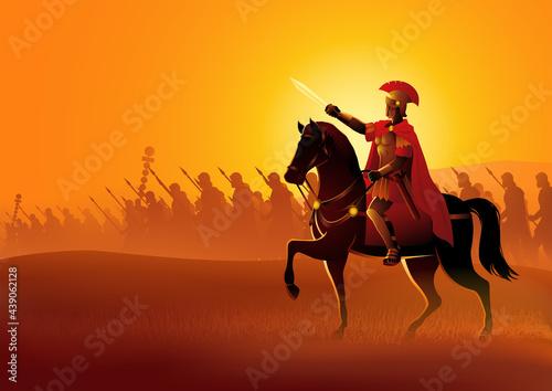 Wallpaper Mural Gaius Julius Caesar on horseback